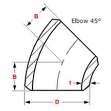 45 Deg Elbow Dimensions