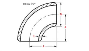 90 Deg Elbow Dimensions