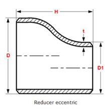Eccentric Reducer Dimensions